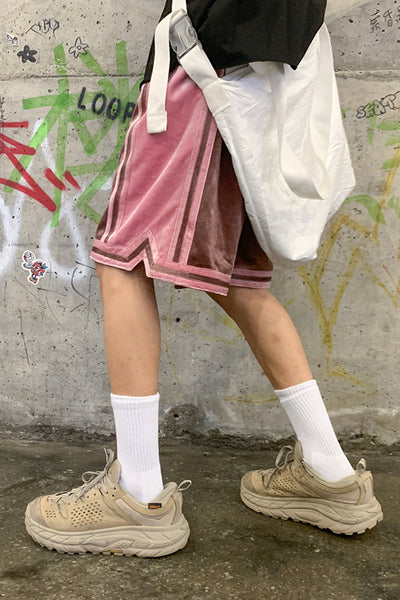loose velvet shorts casual  pants