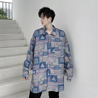 autumn long-sleeved printed shirt