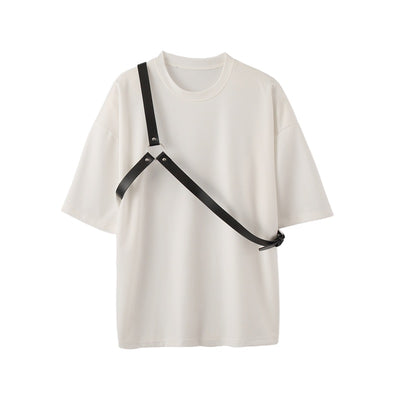 Summer functional wind short-sleeved T-shirt in white