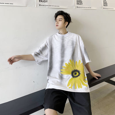 Summer printed short-sleeved t-shirt
