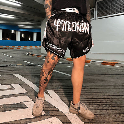 Embroidered high quality Korean skater boxing shorts