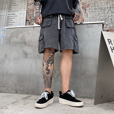 summer loose five-point pants