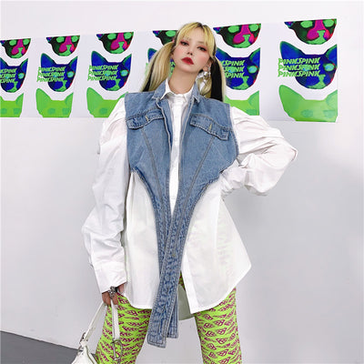Polyester cotton denim shirts