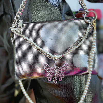 Sparkling bundi chain multi-back underarm cross-handle Girl shoulder bag