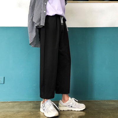 loose straight wide leg casual trousers