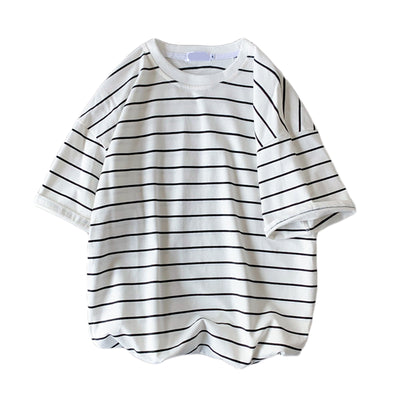 Summer striped loose short-sleeved t-shirt