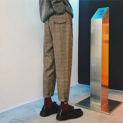 New loose Korean straight Slim woolen cloth Harlan trousers