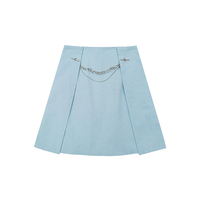 Original niche with hanging chain Korean layered Girl skirt