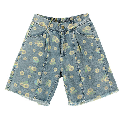 loose summer thin five-point jeans shorts