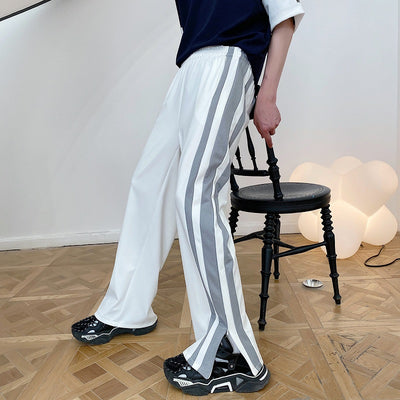 Summer stripe casual pants