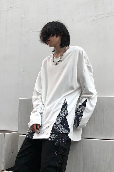 cashew flower bottoming long sleeve t-shirt