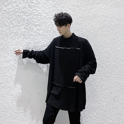 loose long-sleeved oversize sweater