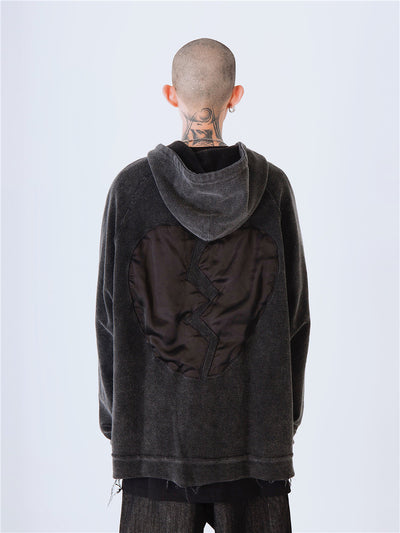 Hooded Washed Loose autumn Jacket