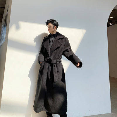 Solid color long usual  trench Coat