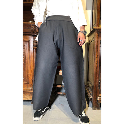 Bulky flared unusually wide vintage retro inspired casual pants