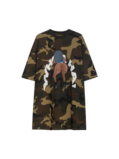oversize street loose half-sleeved printed T-shirt