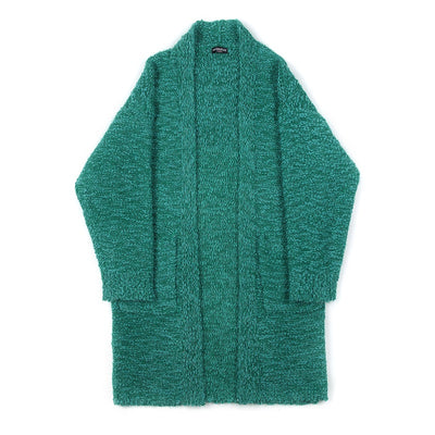 Korean version loose thin solid color knitted cardigan Long Sweater