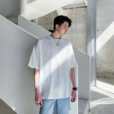 Casual half-sleeved t-shirt