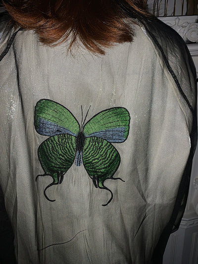 Butterfly Double-layer Sunscreen Long Sleeve Jacket