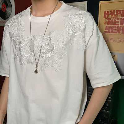 Summer embroidery short sleeve t-shirt