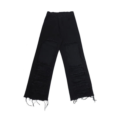 black hole loose high waist pants