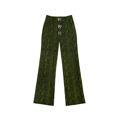 snake pattern trousers