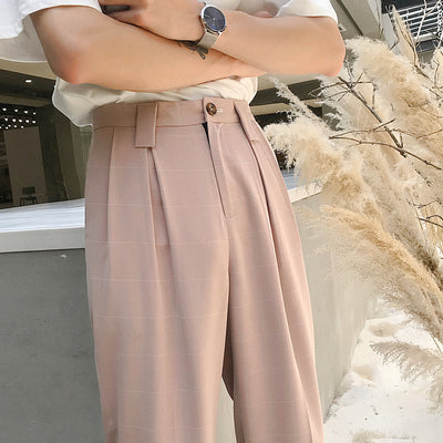 Fall drape straight fit smart creased pants in 3 colors