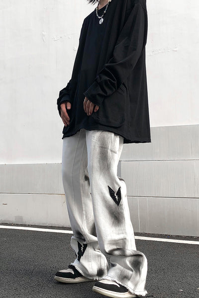 trendy micro-flare casual pants