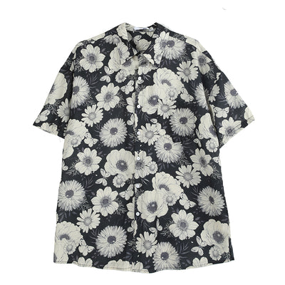 oversize casual printing short sleeve shirt