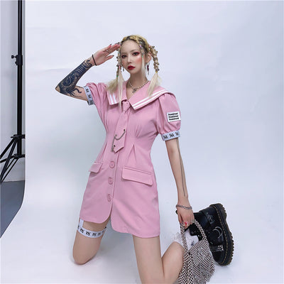 college style suit dress