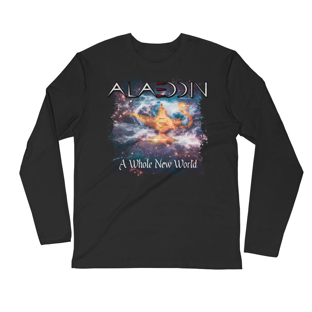A Whole New World Long Sleeve Fitted Crew