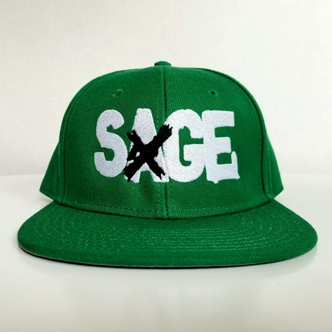 "Sage Francis ""A Healthy Distrust"" Logo GREEN Snapback"