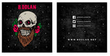 "B. Dolan x Sam Dunn ""Skullbeard"" Lapel Pins - LIMITED EDITION"