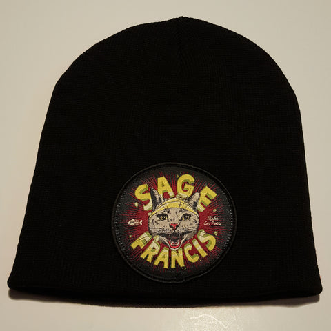 "Sage Francis ""Make Em Purr"" BLACK Knit Hat"