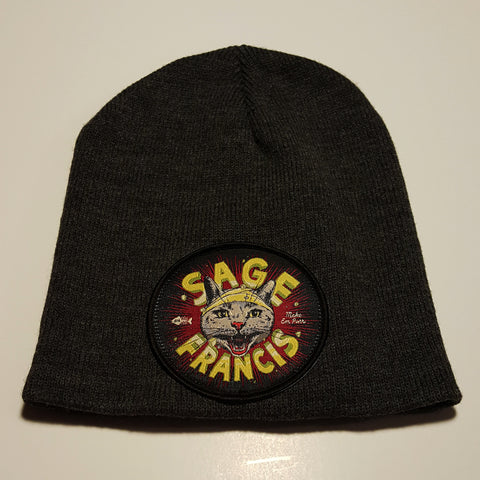 "Sage Francis ""Make Em Purr"" GREY Knit Hat"