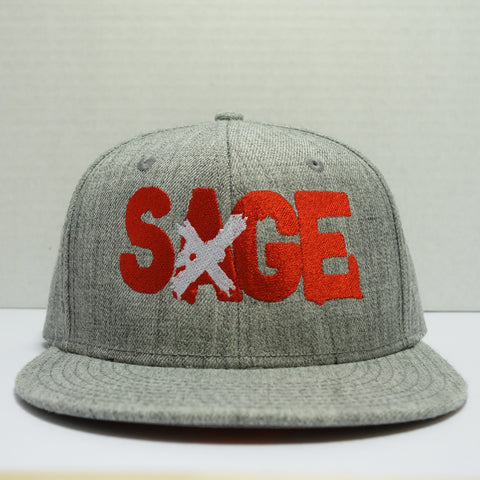 "Sage Francis ""A Healthy Distrust"" Logo HEATHER GREY Snapback"