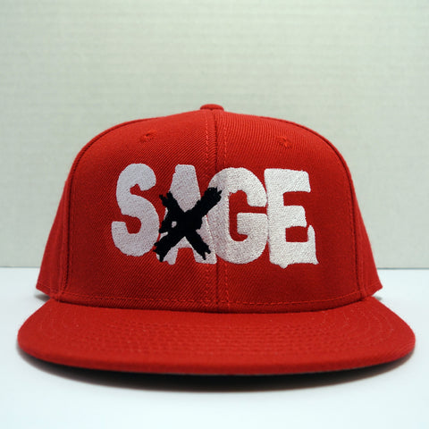 "Sage Francis ""A Healthy Distrust"" Logo RED Snapback"