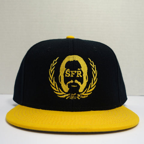 SFR Gold-On-Black Logo CONTRAST BRIM Snapback
