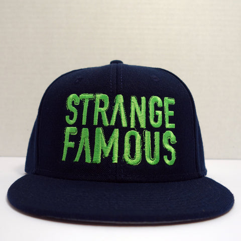 SFR Neon Green-on-Navy Blue BLOCK TEXT Snapback