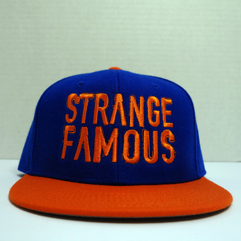 SFR Orange-on-Royal Blue BLOCK TEXT Contrast Brim Snapback