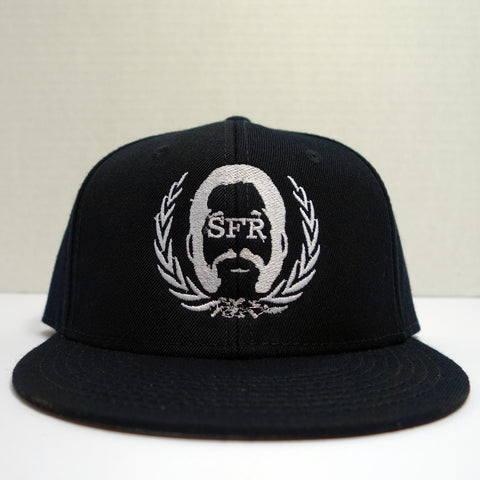 SFR WHITE-On-Black Logo Snapback