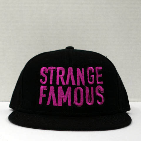 SFR Pink-on-Black BLOCK TEXT Snapback