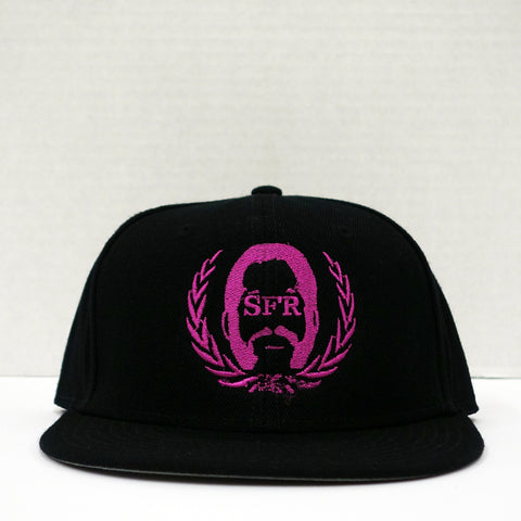 SFR Pink-on-Black Logo Snapback