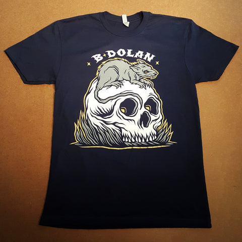 "B. Dolan ""Rats Get Fat"" NAVY BLUE T-Shirt"
