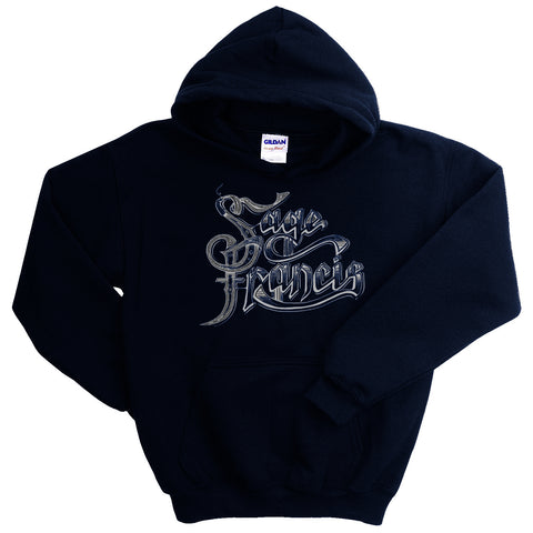 "Sage Francis ""Copper Gone"" NAVY BLUE Pullover Hoodie"