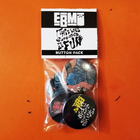 Epic Beard Men TWSTBF Button 4-PACK