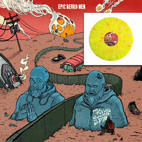 Epic Beard Men - This Was Supposed To Be Fun SIGNED *Yellow Splatter* Vinyl LP+Extras