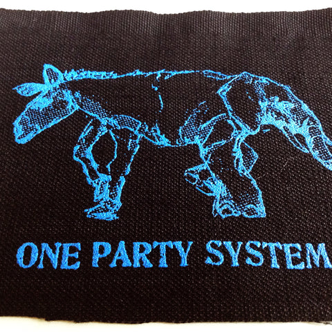 Quot One Party System Quot Backpatch Amp 3 Patch Pack Strange