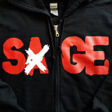 "Sage Francis ""A Healthy Distrust"" BLACK Zip Hoodie"