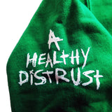 "Sage Francis ""A Healthy Distrust"" KELLY GREEN Zip Hoodie"